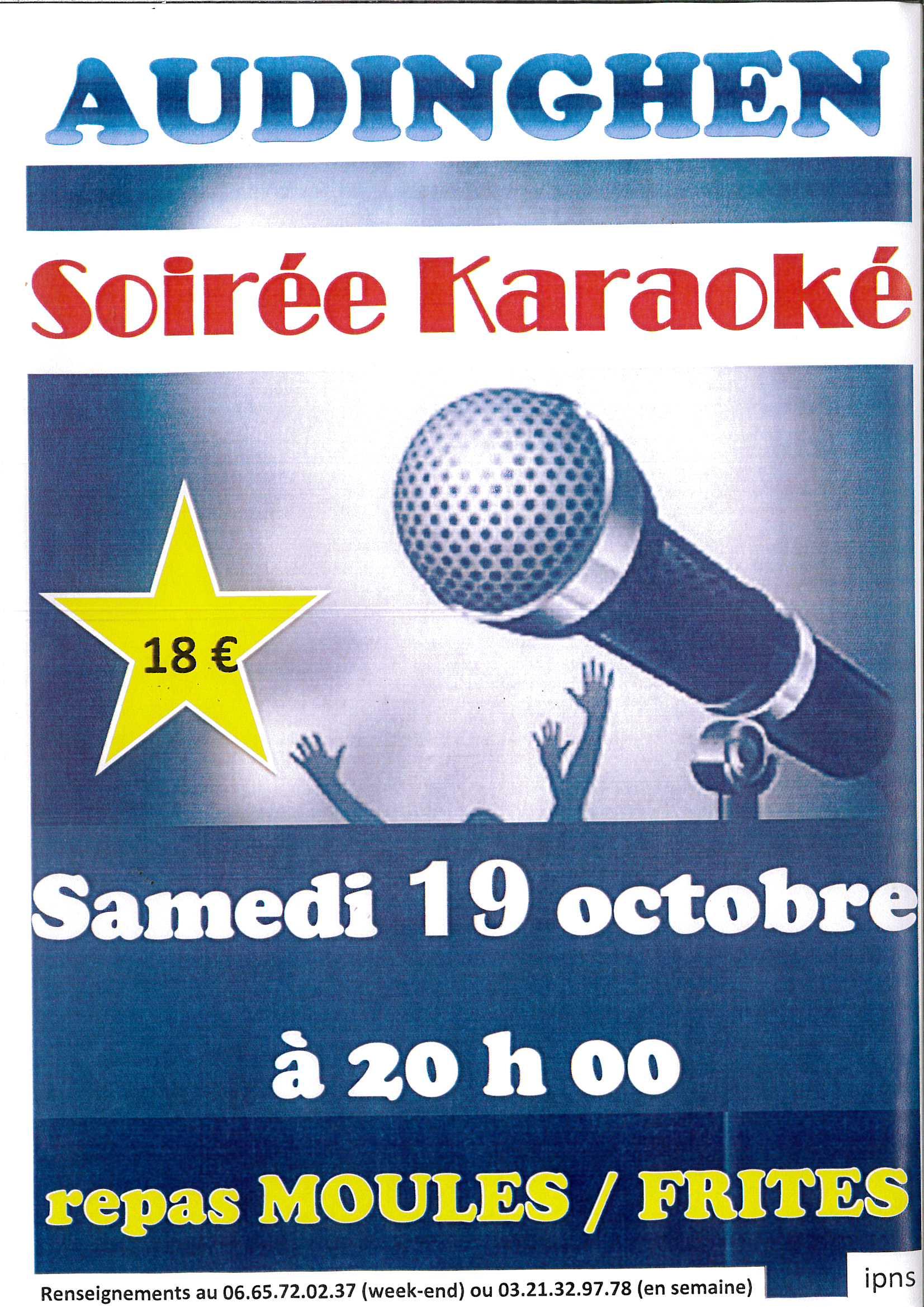 SOIREE KARAOKE @ Salle des fêtes AUDINGHEN