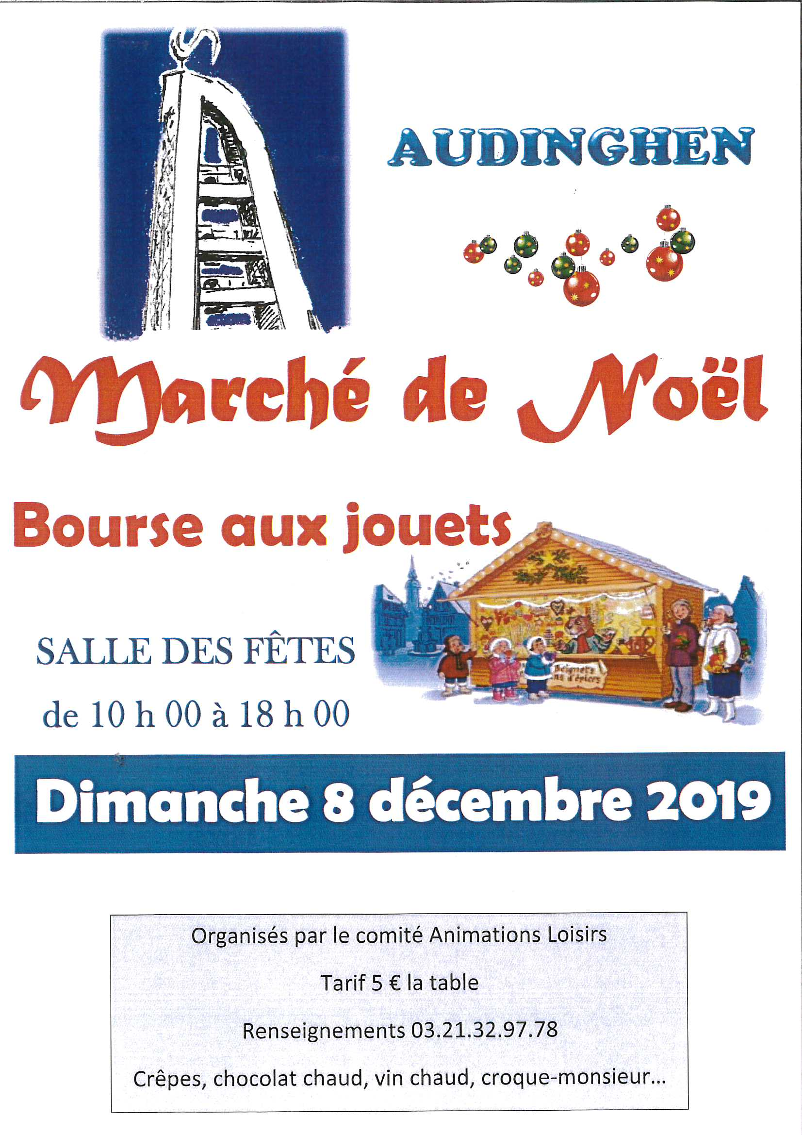 Marché de Noël & Bourse aux jouets @ Salle des fêtes
